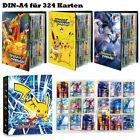Pokemon Sammelalbum 324 Karten 9 Pocket Portfolio Pikachu Album Geschenk Neu