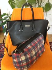 "Damen Tasche DAViD JONES"" Paris/Frauen Handtasche 2in1/schwarz/39 x 25,5 x13,5cm"
