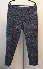 Isaac Mizrahi Live Black Gray Snakeskin Print Stretch Pants Size 26W
