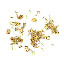 New Novelty 20pcs Mini Metal Hinge for 1/12 House Miniature Cabinet Furniture