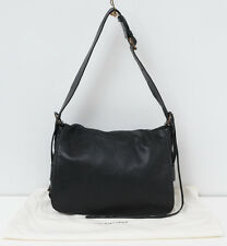 BALENCIAGA Messenger Flap Handbag Black Chevre Soft Leather Shoulder Bag