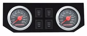 Dual Needle Gauge Panel 200 psi 4 Rocker Switch Control For Air Ride Suspension