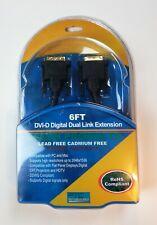 PTC 6Ft DVI-D Dual Link Lifetime Warranty Digital Video M/M Extension Cable