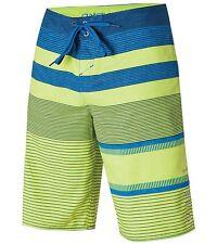 Phantom Aquatics Oneill Mens Stripe Boardshort, Lime Blue- Size 38