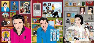 Elvis Presley - ELVIS HIS(S)TORY by Jarod Art (3 poster set with booklets)