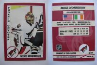 2015 SCA Mike Morrison Phoenix Coyotes goalie never issued produced #d/10 rare