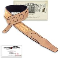 Walker & Williams W-03 Natural Cork & Leather Guitar Strap