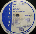 "ART HODES ""Yellow Dog Blues / Maple Leaf Rag"" Climax 1944 78rpm 10"""
