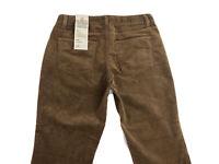 New Talbots Petites Curvy Straight Leg Brown Corduroy Pants Size 8P NWT