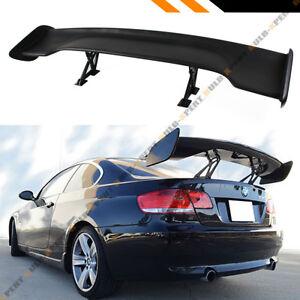 "Universal 57"" Inch ABS Adjustable Matt Black Wide GT-Style GT Trunk Spoiler Wing"