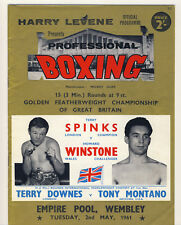 Boxing Programme TERRY SPINKS v HOWARD WINSTONE Golden Featherweight Of GB 1961