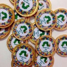 20 x The Very Hungry Caterpillar  Thank You  Milk Chocolate Birthday Gold Coins