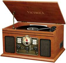 Victrola Classic 6-in-1 Bluetooth Turntable Music Centre, Mahogany