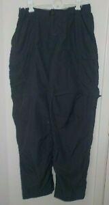 Womens Size 12 REI Dark Gray Nylon Adj Waist Hiking Pants Zip Off Legs To Shorts
