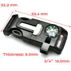 4 in 1 Flint Compass Fire Starter Whistle Buckle For Outdoor Survival Paracord