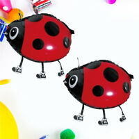 LD_ FX- 10Pcs Cute Beetle Aluminum Foil Balloons Birthday Party Decor Kids Toy