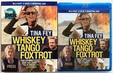 WHISKEY TANGO FOXTROT BLU RAY DVD 2 DISC SET + SLIPCOVER SLEEVE FREE SHIPPING