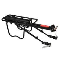 Black Rear Bike Rack Cargo Rack Quick Release Alloy Carrier 110 Lb Capacity New