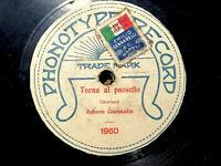 78 GIRI CANTA SURDATO PHONOTYPE RECORD ROBERTO CIARAMELLA NEAPOLITAN SONG 1918