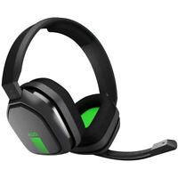 Logitech Astro A10 Wired Gaming PC Xbox One Headset w/ Boom Mic 3.5mm Gray Green