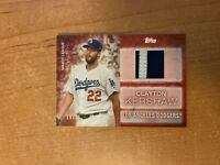 2020 Topps Series 2 - Clayton Kershaw - Red Major League Materials Relic 19/25