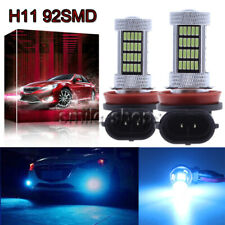 H11 H8 H9 4014 92SMD LED Fog Light Conversion Kit Premium Bulb 8000K 8K Ice Blue