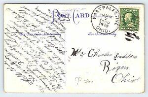 1910 Antique Postcard East Palestine OH Postmark Charles Badders Rogers Ohio E24