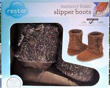 Slipper Boots Woman Memory Foam Temperature Sensitivity Size 7 – 8 Gray * New