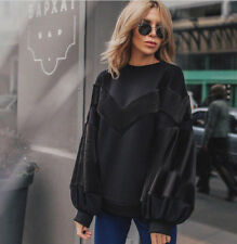 Maglia Maglione Felpa Maniche a Sbuffo Pronto Moda Casual Pullover Sweater Pop M