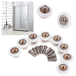 8x Home Bathroom Single Shower Door Wheels Rollers Runner 19mm Diameter Wheel