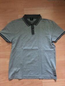 Boss Poloshirt Gr. M Slim Fit Grau