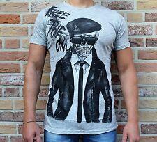 Madmext Herrenshirt Skull Totenkopf grau *NEU* Gr. S