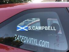 2x Rally Flag Tag Name Set Surname Scotland Motorsport Graphics Stickers Vinyl