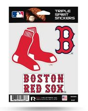 Boston Red Sox Triple Spirit Sticker Sheet Die Cut Decal New Team Color Logos