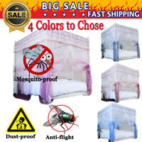Four Corner Double color Europe Mosquito-proof Net Curtain+Stainless steel Frame