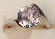 bague bijou couleur argent rhodier panier déco oxyde solitaire diamant T.49