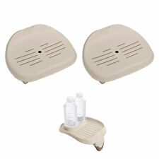Intex Removable Slip-Resistant Hot Tub Seat (2 Pack) & Cup Holder Tray Accessory