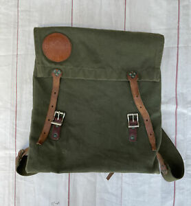 Vintage 1970s Duluth Canvas Leather Rucksack Monarch Made In USA Pack Backpack