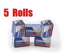 5 Rolls Foma Fomapan 200 Creative 35mm 135-36  B&W  Film Fresh 08/2019