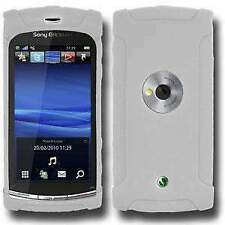 AMZER Silicone Skin Jelly Case for Sony Ericsson Vivaz U5 - Transparent White