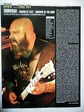 COUPURE DE PRESSE-CLIPPING :  CROWBAR 03/2011 Live Report Underworld,Londres