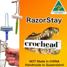 Crochead Stainless Steel Razor Holder - RazorStay fits chrome shower stands easy