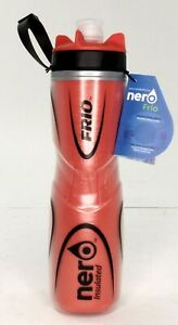 Nero Frio Duotone Insulated Bicycle Water Bottle 25oz Red/Black