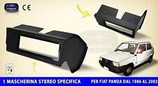 Mascherina Autoradio Fiat Panda 1986 - 2003 nero per stereo audio auto specifica