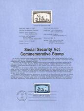 #8540 22c Social Security Act Stamp - Scott #2153 USPS Souvenir Page