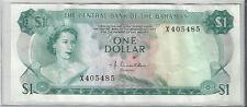 1974~~BAHAMAS ONE DOLLAR BANKNOTE~~VERY NICE