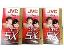 Lot 3 JVC SX120 T-120 DU VHS 6hrs Sealed