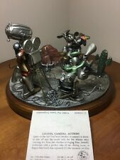 Chilmark Hudson Creek Pewter Disney Ltd Ed 205/500 COA, LIGHTS, CAMERA, ACTION!