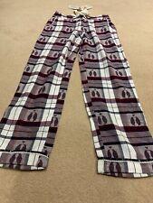 Fat Face pyjama bottonms pj/'s tartan check deer print berry ivory 8-18