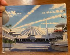 Disney WonderGround Tomorrowland Space Mountain Panorama Danny Heller postcard